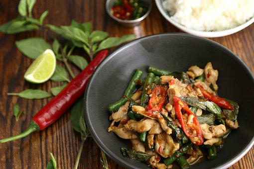 Thai Basil, Thai Ingredient, Thai Food, Chilli