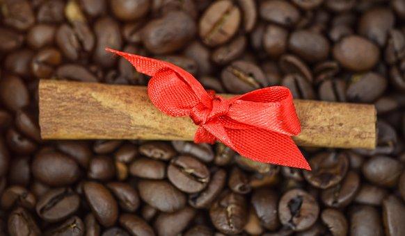 Cinnamon, Bow, Coffee Beans, Ribbon, Decoration