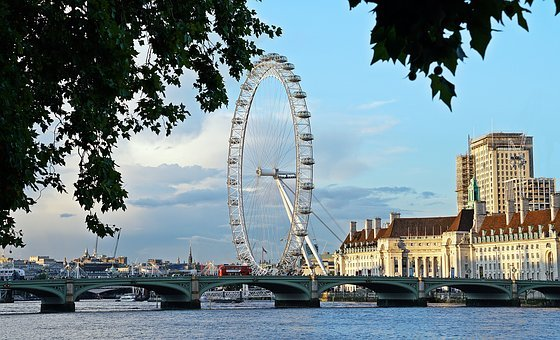 London, Eye, Westminister, Bridge, Landmark, City