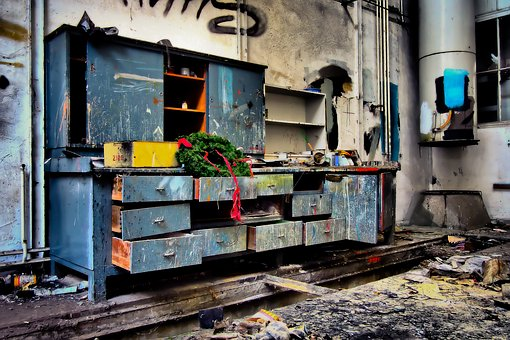 Lost Places, Workshop, Leave, Old, Decay, Ruin, Lapsed