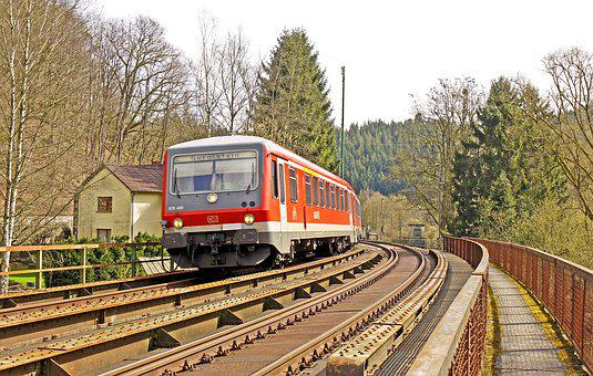 Diesel Railcar, Regional Train, Eifel Track, Kylltal