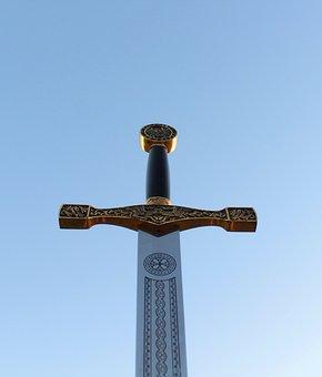 Sword, Excalibur, Epic, Against The Sky