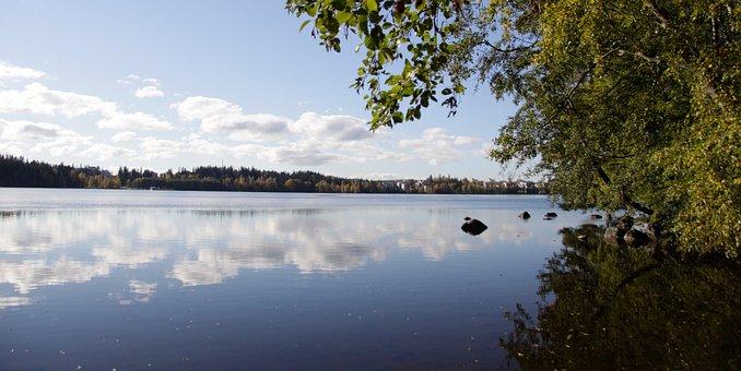 Finland, Tampere, Arboretum, Landscape, Nature, Lake