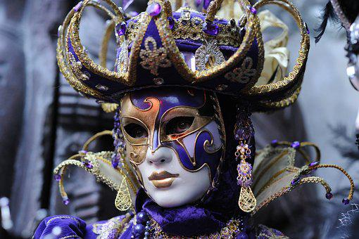 Carnival, Mask, Venice, Disguise, Costume