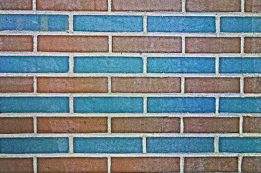 Brick Wall, Wall, Blue Brick Wall, Masonry