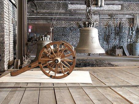 Gun, Bell, Foundry, Metal