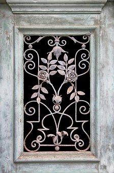 Door, Window, Grid, Input, Old, Blacksmithing, Metal