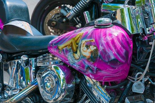 Harley, Tank, Painting, Harley Davidson, Motorcycle