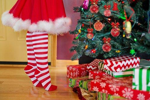 Decorating Christmas Tree, Santa Woman, Mrs, Claus
