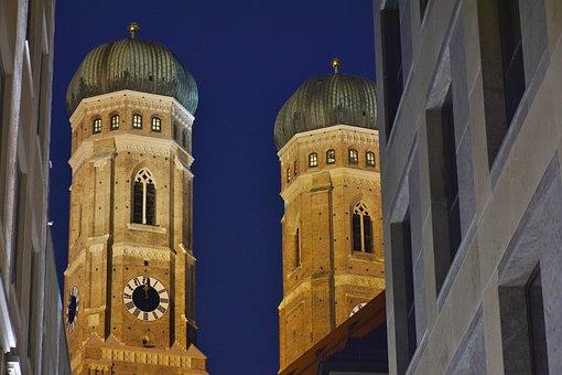 Frauenkirche, Munich, Towers, Church, Bavaria