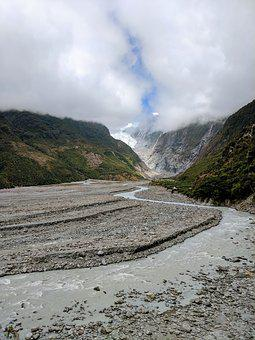 Franz Josef Glacier, Nz, New Zealand, Glacial, Famous