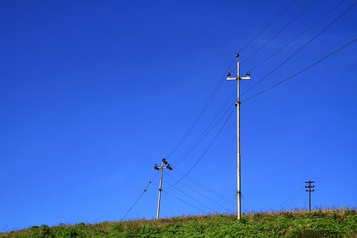 Electric Post, Nature, Kerala, Blue Sky, Electric, Post