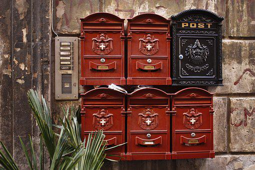 Post Box, Rome, Postage, Italy, Streets, Mail, Post