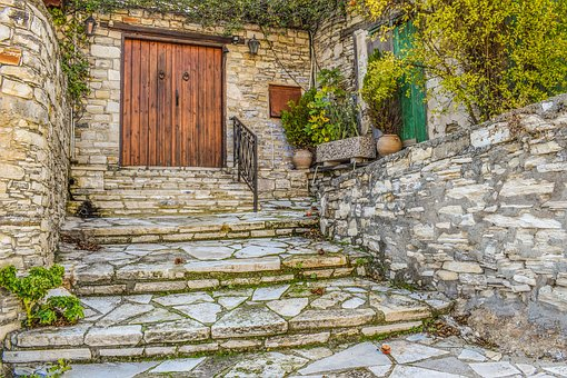 Old House, Backstreet, Stairs, Village, Architecture