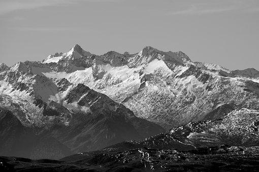 Mountains, Alpine, Summit, Imposing, Landscape, Nature