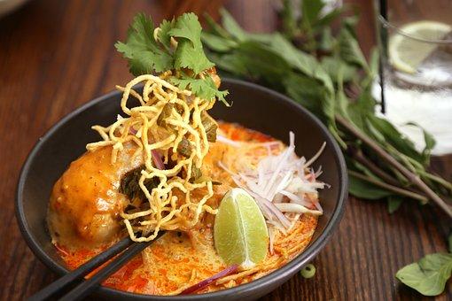Thai Noodle, Khao Soi, Thai Northern Noodle
