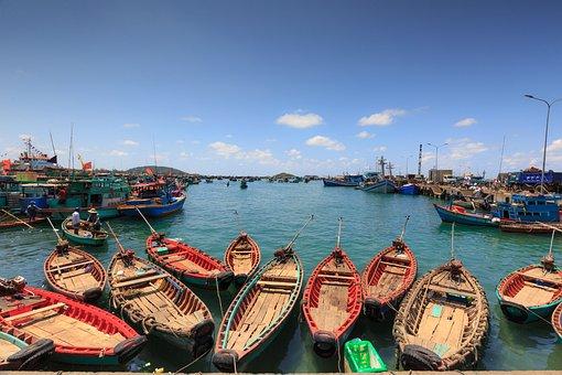 Phu Quoc Island, The Fishermen, Fishing Boat, Fishnet