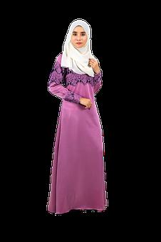 Muslim Model, Baju Kurung, Women, Traditional, Portrait