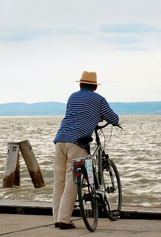 Bike, Wanderlust, Longing, At The Lake, Water, Travel