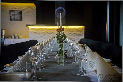 Dining Table, A Glass Of, Wine Glasses, Wine, Wedding