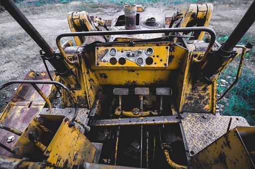 Dozer, Yellow, Equipment, Machine, Industrial, Loader