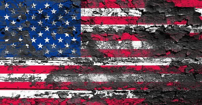 America, Usa, Flag, American, Old, Weathered