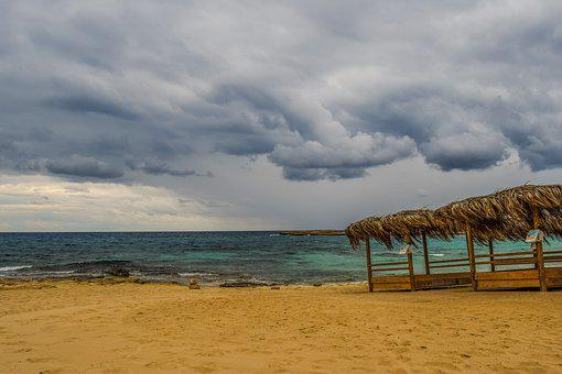 Beach, Empty, Autumn, Out Of Season, Sea, Sky, Clouds