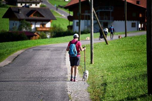 Road, Walk, Mountain, Excursion, Trekking, Backpack