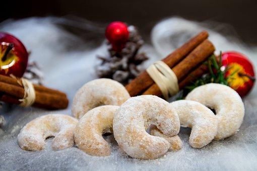 Christmas, Vanillekipferl, Cookies, Cookie, Bake