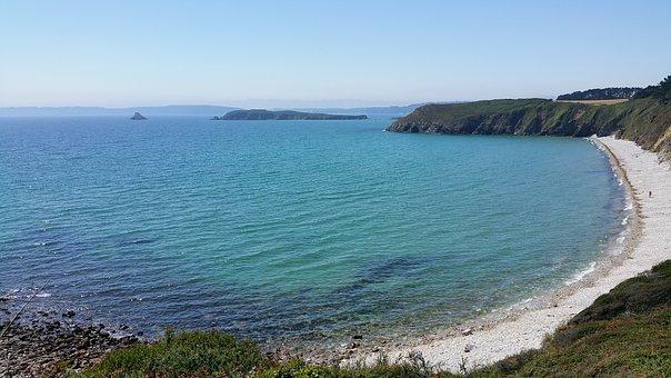 Beach, Roller, Stones, Sea, Ocean, Brittany, Crozon