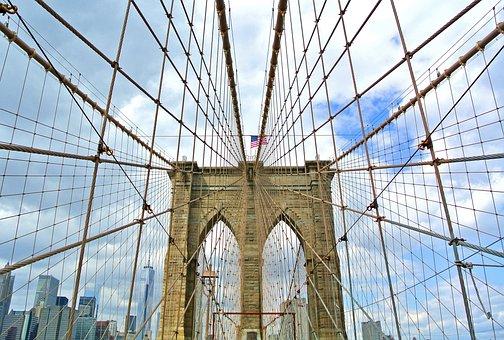 Bridge, New York, Brooklyn, City, Building, Structure