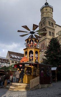 Christmas Pyramid, Christmas Market, Christmas, Advent