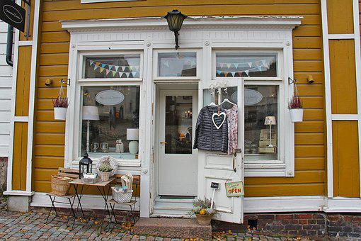 Old Town, Car, Shop, Cafe, Salon, Fashion, Fall, Season