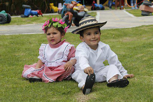 Children, Latino, Folklore, Dances, Coastal, Models