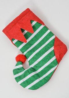 Christmas, Sock, Shoe, Gift, Holiday, Decoration