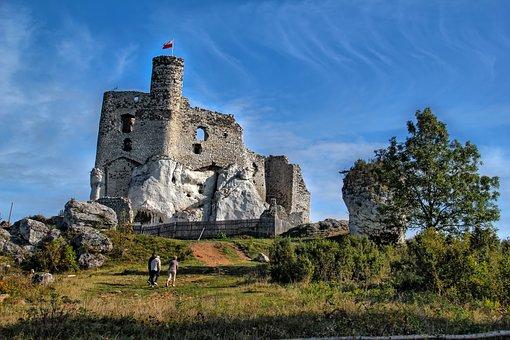 Castle, Mirow, Monument, Poland, History, Landscape