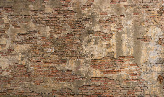 Wall, Old, Stone Wall, Masonry, Break Up, Weathered