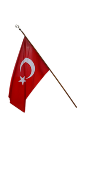 Turkish Flag, Turkey, English, Flag, Moon And Star