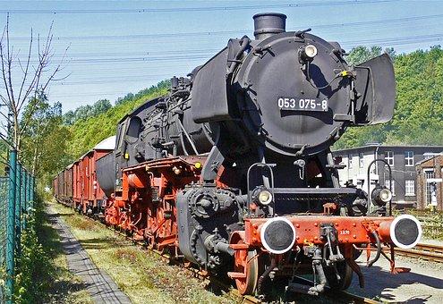 Steam Locomotive, Museum, Exhibit, Outdoor Area