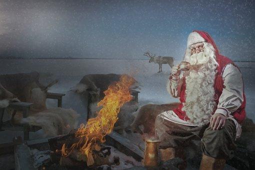 Nicholas, Santa Claus, Campfire, Punch, Reindeer
