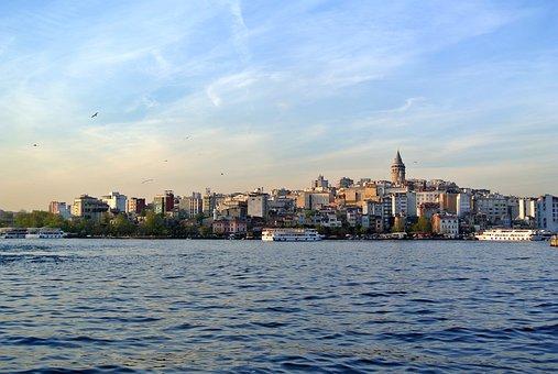 Bosphorus, Istanbul, Galata Tower, Strait, Turkey, Sea