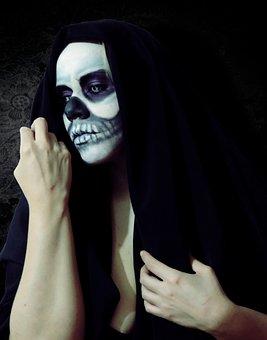 Death, Skull, Skeleton, Halloween, Catrina
