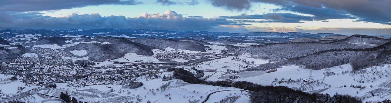 Winter, Wintry, Snow, Urban Sprawl, Snowy, Landscape