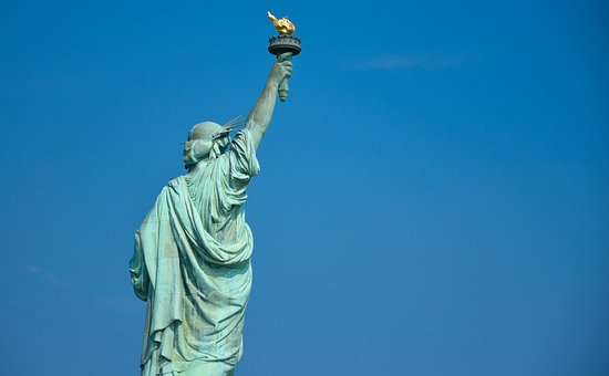 Statue Of Liberty, Back, New York, Statue