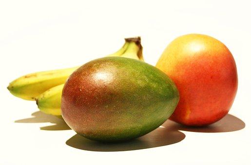 Banana, Mango, Orange