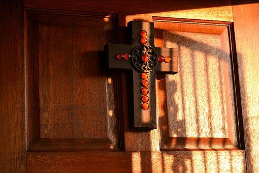 Cross, Christian, Religion, Belief, God, Bead Work