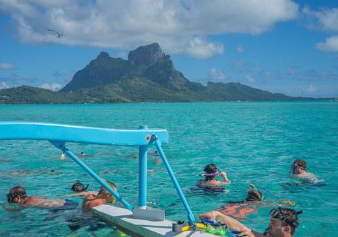 Bora Bora, French Polynesia, Ocean, Pacific, Vacation