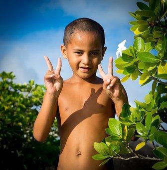 French Polynesia, Little Boy, Portrait, Tropical, Child