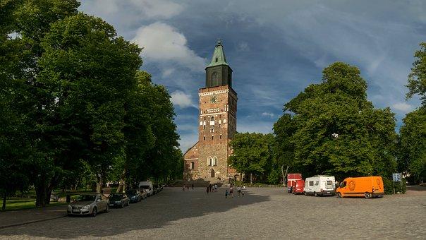 Turku, åbo, Church, Market, Cathedral, Medieval, Old