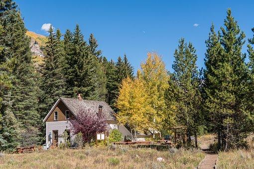 Vail, Colorado, Architecture, Cabin, Nature, Usa